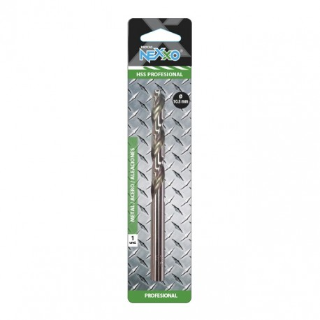 Broca HSS Metal / Acero / Aleaciones 10.5 mm diámetro