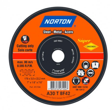 DISCO DE CORTE A30T BF METAL - NORTON