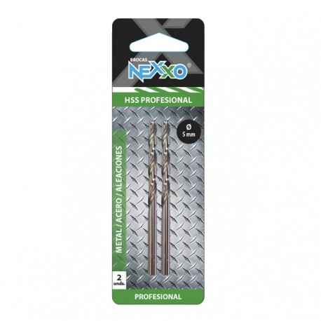 Broca HSS Metal / Acero / Aleaciones 5 mm diámetro