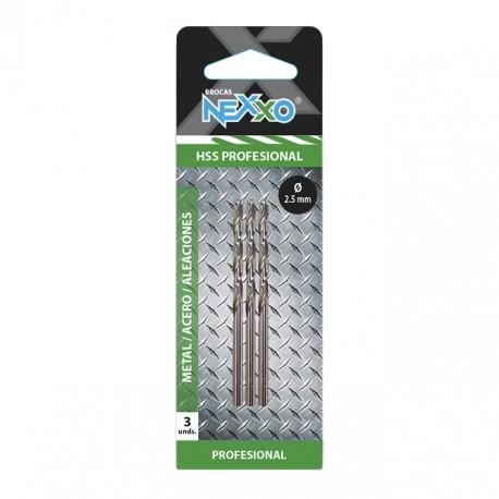 Broca HSS Metal / Acero / Aleaciones 2.5 mm diámetro