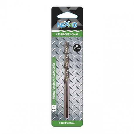 Broca HSS Metal / Acero / Aleaciones 8.5 mm diámetro