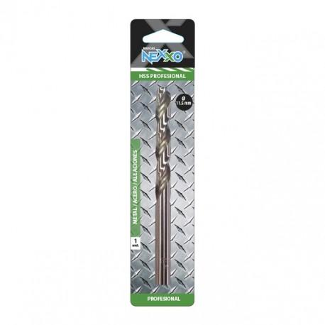 Broca HSS Metal / Acero / Aleaciones 11.5 mm diámetro