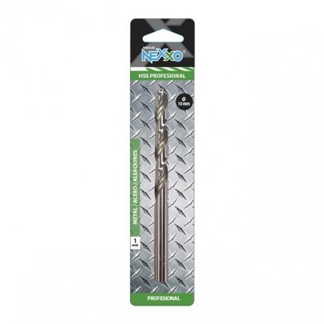Broca HSS Metal / Acero / Aleaciones 10 mm diámetro