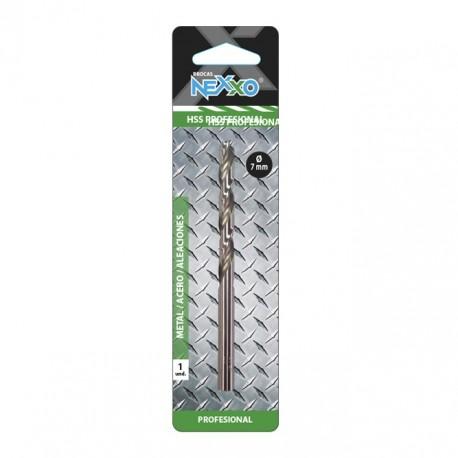 Broca HSS Metal / Acero / Aleaciones 7 mm diámetro